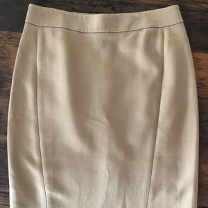 Loft Camel Colored  Pencil Skirt